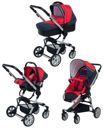 Foppapedretti  3 в 1 SuperTres Travel System jeans-rosso