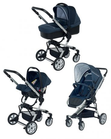 Foppapedretti  3 в 1 SuperTres Travel System jeans-blu