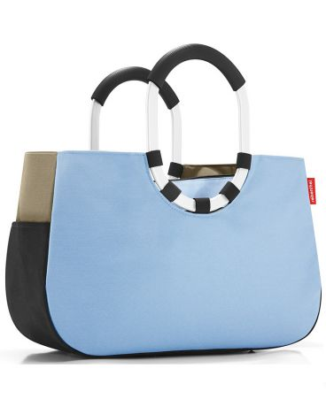 FineDesign Loopshopper M patchwork pastel blue