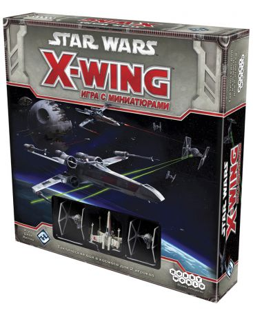 Hobby World с миниатюрами Star Wars X-wing
