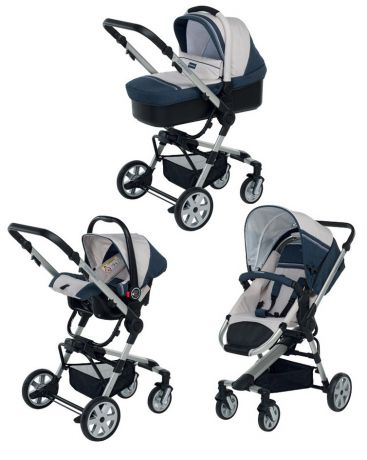 Foppapedretti  3 в 1 SuperTres Travel System jeans-perla
