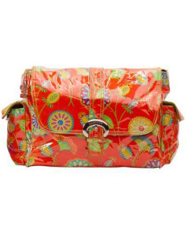 Kalencom Buckle bag Gypsy Rose Orange Laminated