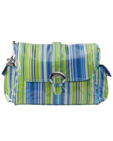 Kalencom Buckle bag Jazz Stripes Cobalt