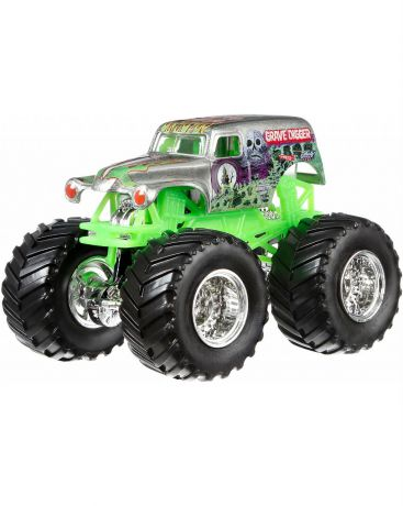 Hot Wheels Monster Jam Grave Digger серебристая