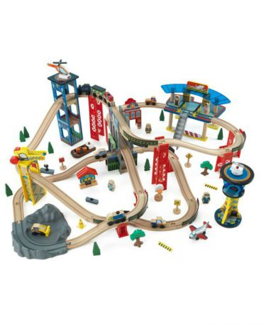 KidKraft Железная дорога Супер Хайвей Super Highway Train Set