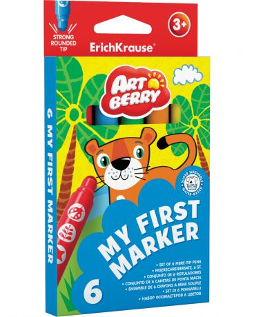Erich Krause Artberry My First Marker 6 цветов