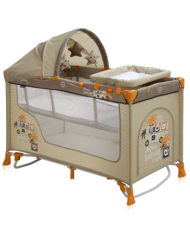 Bertoni (Lorelli) Nanny 2 Plus Rocker Beige Safari Tours