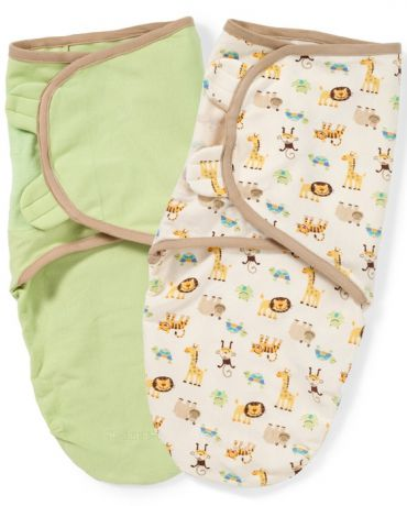 Summer Infant SwaddleMe 2 шт S/M джунгли