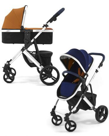 Tutti Bambini 2 в 1 Riviera Silver Midnight Blue/Tan