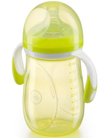 Happy baby Anti Colic Baby Bottle с ручками 300 мл салатовая