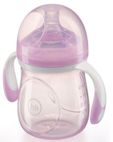 Happy baby Anti Colic Baby Bottle с ручками 180 мл сиреневая