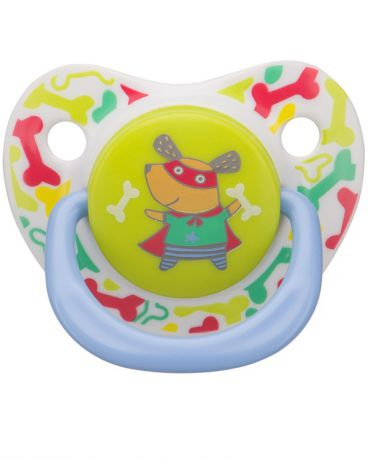 Happy baby Baby Soother Natural dental Dog силиконовая от 12 мес