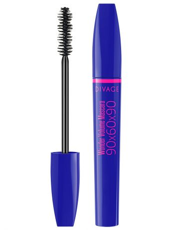 "DIVAGE Тушь для ресниц ""90х60х90 WONDER VOLUME Mascara"" тон 01"
