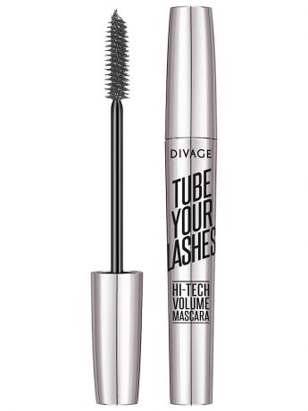 "DIVAGE Тушь для ресниц ""TUBE YOUR LASHES Hi-Tech Volume Mascara"" тон 02"