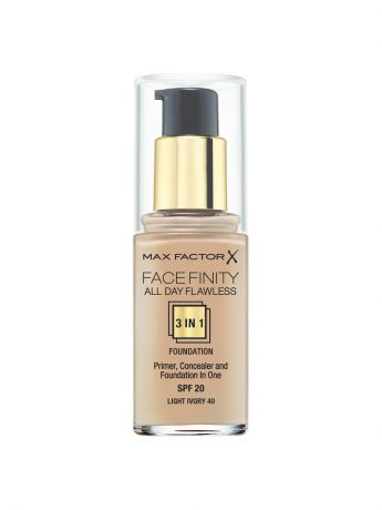 MAX FACTOR Тональная основа Facefinity All Day Flawless 3-in-1 №40