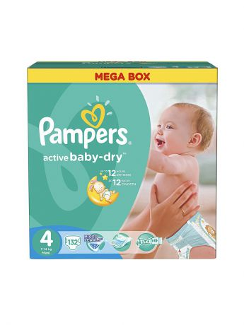 Pampers Подгузники Pampers Active Baby-Dry 8-14 кг, 4 размер, 132 шт