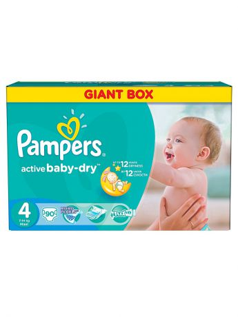 Pampers Подгузники Pampers Active Baby-Dry 7-14 кг, 4 размер, 90 шт