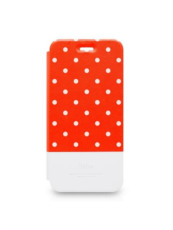 Kajsa Чехол для iPhone 6-4.7 Neon Collection Polka Dot pattern foilo case [iPhone 6-4.7], Red