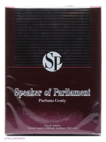 PARFUMS GENTY Туалетная вода SPEAKER OF PARLIAMENT EDT 100 ML SPRAY