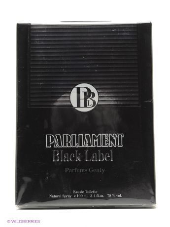 PARFUMS GENTY Туалетная вода PARLIAMENT BLACK EDT 100ML SPRAY