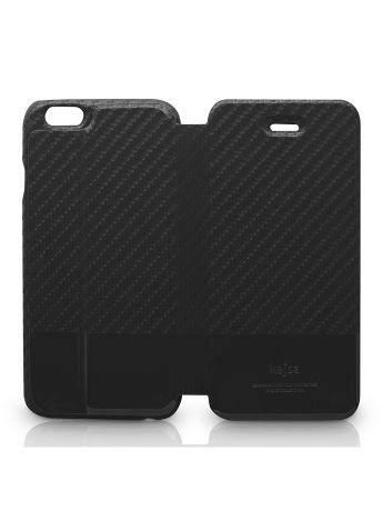 Kajsa Чехол для  iPhone 6 Plus Svelte Collection Carbon Fibre folio case [iPhone 6-5.5], Black