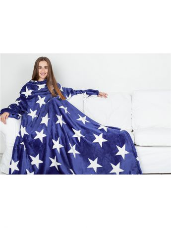 Sleepy Плед с рукавами Sleepy Luxury Blue White Stars