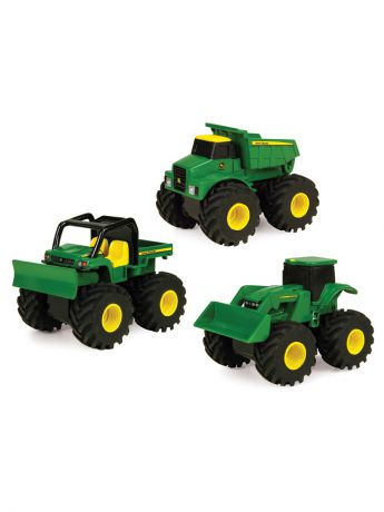 TOMY Машинка Tomy John Deere реверсивные Monster Treads самосвал,бульдозер,погрузчик.