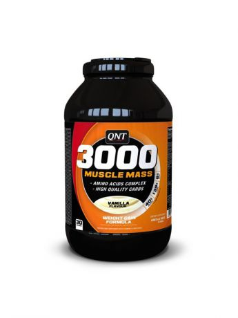QNT Гейнер QNT Muscle Mass 3000 (ваниль),4,5 кг