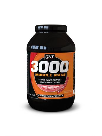 QNT Гейнер QNT Muscle Mass 3000 (клубника),4,5 кг