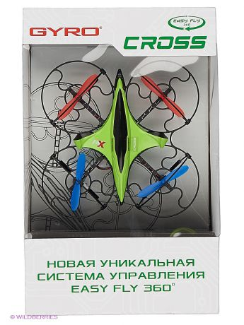 1Toy Квадрокоптер 1toy GYRO-Cross 2,4GHz 4 канала 16х16см, 6-осевой, real headless режим