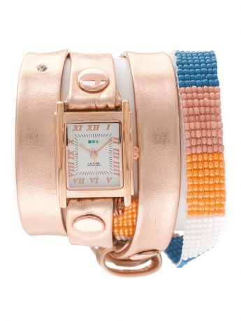 La Mer Collections Часы La Mer Collections Guatemala Beaded Rose Gold Orange