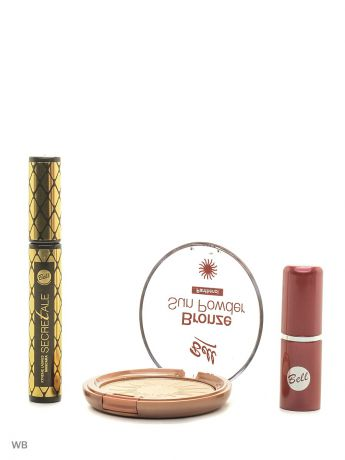 Bell Спайка тушь secretale xtreme lashes, помада lipstick classic, пудра bronze sun powder