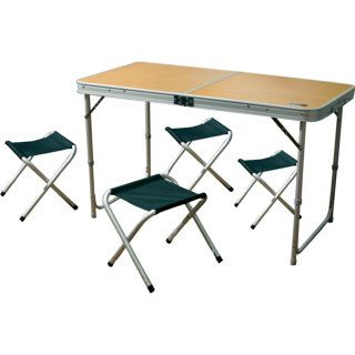 Camping World Convert Table mini +4 стула