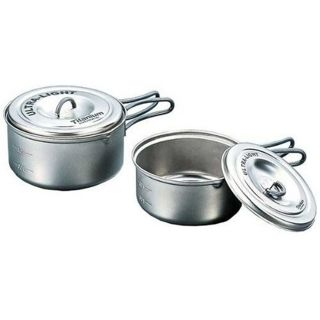 Evernew ECA260 Ti Ultra-Light Pot Set M