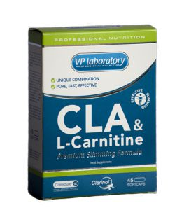 VP Laboratory Жирные кислоты VP Lab CLA+L-carnitine (45капс)