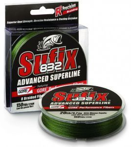Sufix 832 Braid Lo Vis Green 135м 0.18мм