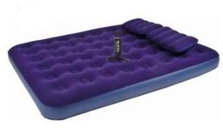 Relax Flocked air bed QUEEN насос+2подушки JL021470N