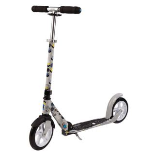 Micro Scooter White Floral (grey)