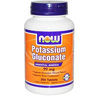 NOW Витамины NOW Potassium Gluconate 99 mg (250 табл)