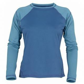 Marmot Midweight Crew Ls Cocona Lady Bluejay/rainwater
