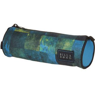 Billabong Barrel Pencil Case, blue check