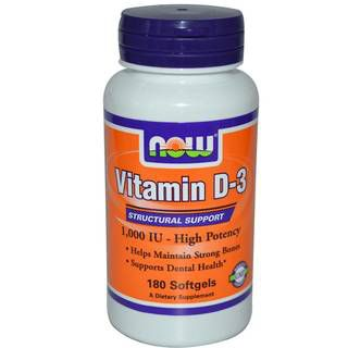 NOW Витамины NOW Vitamin D 1000 IU (120капс)