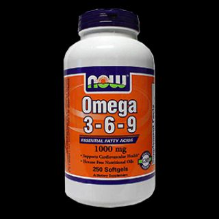 NOW NOW Omega 3-6-9 1000 мг (250 капс)