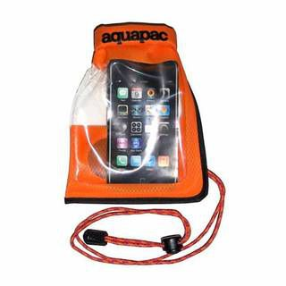 Aquapac 035 Small Stormproof Phone Case orange