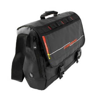 Overboard OB1079BLK Waterproof Adventure Messenger Bag