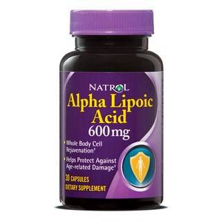 Natrol Липоевая кислота Natrol Alpha Lipoic Acid 600 mg (30капс)
