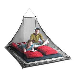 Sea to Summit Nano Mosquito Pyramid Net Double Grey