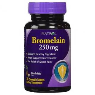Natrol Добавка Natrol Bromelain Chewable 250mg (30табл)