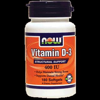 NOW Витамин NOW Vitamin D-3 400 IU (180 капс)