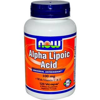 NOW Витамины NOW Alpha Lipoic Acid 100mg (60капс)